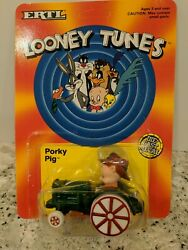 Looney Tunes Porky Pig Character Green Farm Tractor Ertl Toy 2702 Die Cast 1989