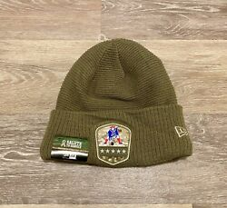 New Era New England Patriots 2019 Salute To Service On-field Winter Knit Beanie