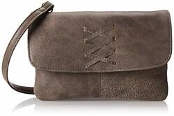 Latico Women's Leather Meredith Crossbody Bag In Distressed Brown Euc