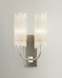 John-richard Collection Selenite Double Wall Sconce Horchow Neiman Marcus