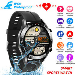 Ip68 Bluetooth Smart Watch Blood Oxygen Heart Rate Tracker Band For Ios Android