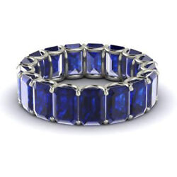 3.40 Ct Real Blue Sapphire Wedding Band For Women 950 Platinum Ring Size L M N P