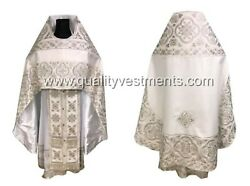 White Priest's Vestment Embroidered Russian Style Lightweight Any Color To Order