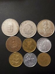 Eastern Europe 1962-2015 Lot Of 9 Circulated Coins Diff Denomination Composition