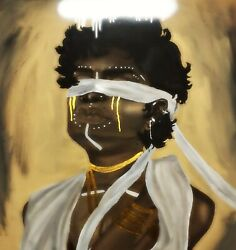 Acrylic Art Black Angel New Condition Print To Order