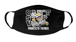 Minnesota-vikings Football Canand039t Stop Vs Face Mask Three-layer Mask Washable