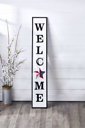 Interchangeable Wall Leaning Welcome Sign With 8 Magnetic Season Icons