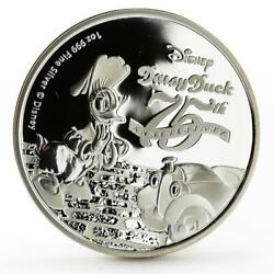 Niue 2 Dollars 75th Anniversary Of Daisy Duck Disney Proof Silver Coin 2015