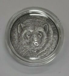2007 Mongolia 500 Tugrik Limited Ed .999 Silver Coin Wolverine New In Capsule
