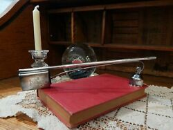 Sterling Silver .925 Candle Snuffer And Rampant Lion Match Box Holder W/ Wick -bt4