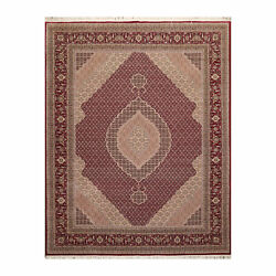 8' X 10' Hand Knotted Wool And Silk Fish Mahi 250 Kpsi Oriental Area Rug Red 8x10