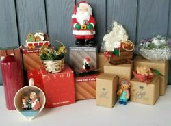 Lot Of 11 Vintage Avon Figural Christmas Ornaments And Candles Merry Mice Treat