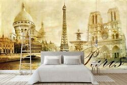 3d Eiffel Tower 2855na Wallpaper Wall Mural Removable Self-adhesive Fay