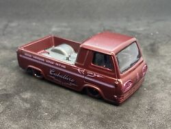 Hotwheels 60and039s Ford Econoline Pickup Custom Color 1/64 Shop Trucks Real Riders A