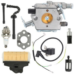 Carburetor Air Filter Ignition Coil Kit For Stihl 025 Ms230 Ms250 Chainsaw