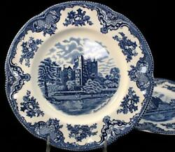 Johnson Brothers Old Britain Castles Blue 2 Dinner Plates England A+ Condition