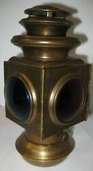 Ford Script Jno Brown 105 Brass Tail Lamp Superb Original Condition Model T Ford