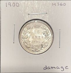 25 Cents 1900 Canada Ms60