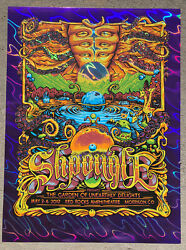 Shpongle Red Rocks 2019 Purple Lava Foil Variant Poster By Aj Masthay
