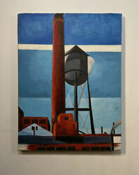 Charles Demuth Painting - Water Tower