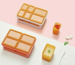 6pcs Silicone Baby Food Storage Containers Infant Fruit Breast Milk Storage Box
