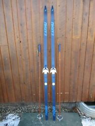 Great Ready To Use Cross Country 79 Karhu 205 Cm Snow Skis + Poles