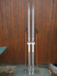 Great Ready To Use Cross Country 79 Artis 205 Cm Snow Skis + Poles