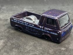 Hotwheels 60and039s Ford Econoline Pickup Custom Color 1/64 Shop Trucks Real Riders C