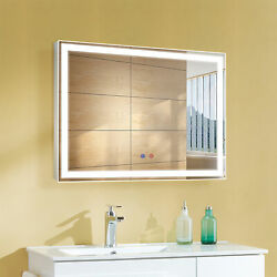 32x24 Led Bathroom Vanity Mirror Wall Mounted Dimmable Anti Fog Touch Switch