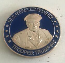 New Jersey Njsp State Police President Trump Challenge Coin Blue