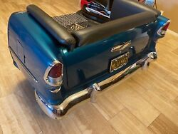 1955 Belair Couch Sofa Real Lights Rare All Metal Man Cave W/ Vintage Drive In