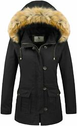 Uoiuxc Womenand039s Winter Coat Warm Puffer Thicken Parka Jacket With Fur Hood