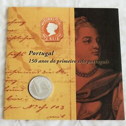 Portugal 2003 5 Euro B/unc Silver Coin And Stamp Set - Sealed Pack
