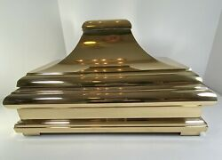 Chapman Lamp Mid Century Modern Solid Brass Pagoda Box 1978 Polished/lacquered