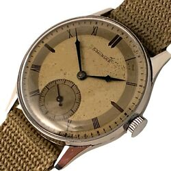 C1943 Tyber Rare Wwii Watch With Fine Manual Movement