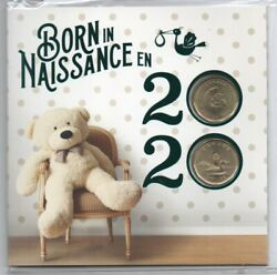 Born In 2020 Baby Gift Coin Set Canada Special Edition 1 Loonie Teddy Bear