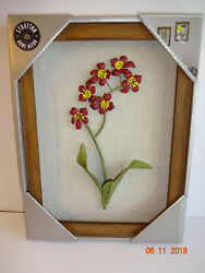 Stratton Home Decor Wall Flowers Framed 9quot;x12quot; Accents Handmade NIB New