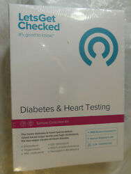Lets Get Checked Diabetes And Heart Testing Sample Collection Kit Factory Sealed