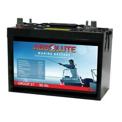 Absolute Battery 12v 90ah Group 27 Battery For Water Wheeler Electric Pedal Boat