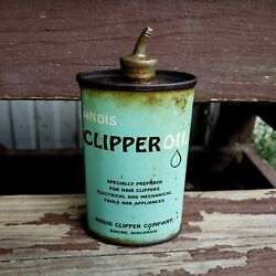 Vintage Andis Clipper Oil Lead Top Can Handy Oiler Tin 3 Oz. Advertising