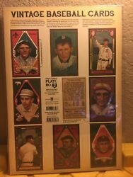 Vintage Baseball Cards Plate Poster 1909 T206 Ty Cobb American Tobacco Company