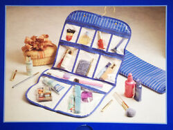 IN TRANSIT Hanging Cosmetic Bag Travel Case Waterproof 10 Compartments 15X28 NEW $19.99