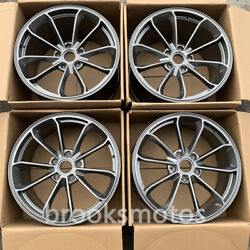 20 Staggered Gray Style Forged Wheels Rims Fit 2005-2012 Porsche Cayman 987