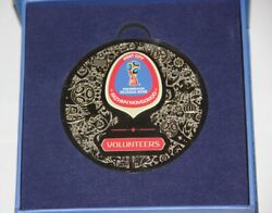 Fifa World Cup 2018 Russia Volunteer Medal In Box Football Soccer Official Rare
