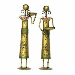 Handcrafted Cast Iron Tribal Working Ladies Handmade Doll Showpieces Figures For