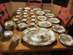 Johnson Bros. The Friendly Village Dinner Set - 8 Piece Plus Spares And Extras