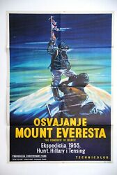 Conquest Of Everest Mountain Climbing 1953 Hillary Norgay 1sh Exyug Movie Poster