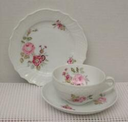 Dresden Hutschenreuther 14301 Trio Cup Saucer And Side Plate Floral Sprays Germany