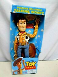 Disney Thinkway Toys Toy Story Talking Poseable Woody Doll 62810 New In Box