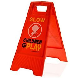 Children At Play Slow Sign For Yards And Driveways Double Sided Red Playamp;quot